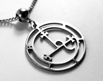 Sigil Of Lilith Stainless Steel Pendant