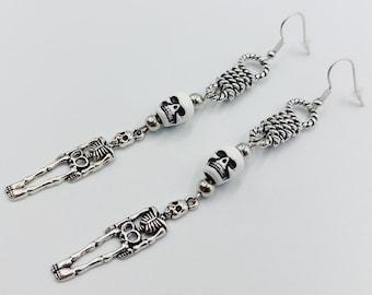 All Hallows Eve Skeleton Earrings