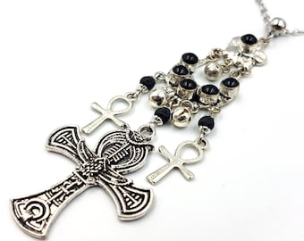 Onyx Egyptian Ankh Necklace