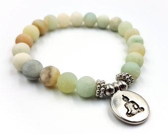 Budha Charm Amzonite Bracelet