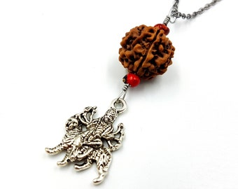Durga Rudraksha Rear View Mirror Charm (Car Accessory)