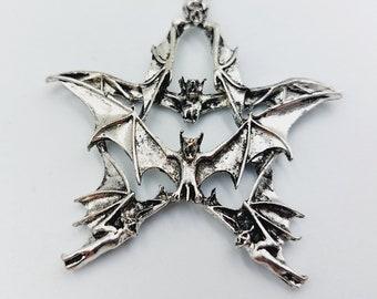 Pentagram of Bats Pendant