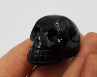 Black Onyx Crystal Skull Pendant