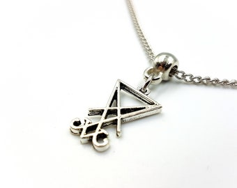 Mini Sigil of Lucifer Necklace