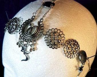 Sopor Aeternus Jusa Tiara (2 styles) - gothic occult hamsa chain headpiece
