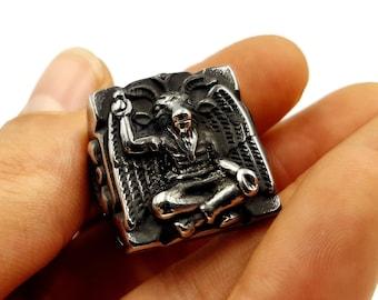 Blackened Baphomet Ring