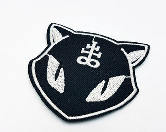 Iron On Satanic Cat Patch