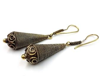 Vintage Tribal Droplet Earrings