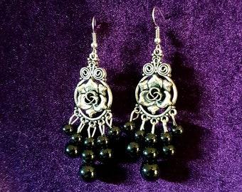 Gothic Rose Earrings