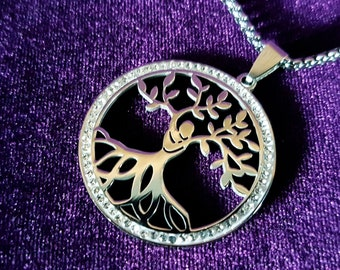 TwinSoul Tree of Life Pendant (Stainless Steel)