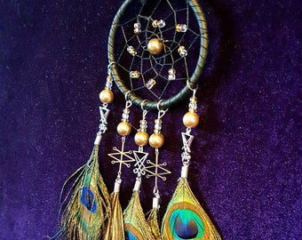 Azazel & Luciferian Peacock Dreamcatcher