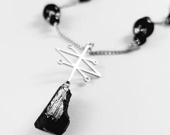 Sigil of Azazel Tourmaline Necklace