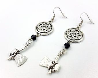 Celtic Knot Axe Earrings (2 Styles)