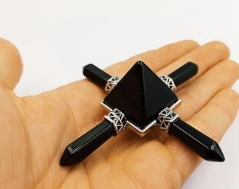 4 Pointed Energy Generator (Black Obsidian | Crystal Quartz | Rose Quartz )