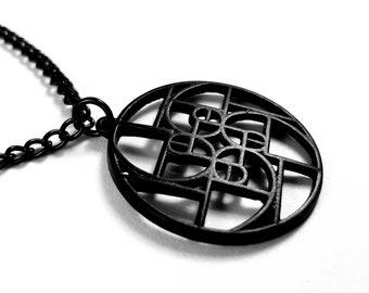 Black Golden Ratio Fibonacci Necklace