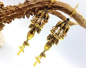 Royal Ankh Earrings