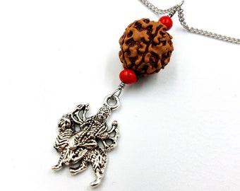 Durga Rudraksha Necklace