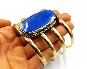 Vintage Lapis Lazuli Arm Cage Bracelet