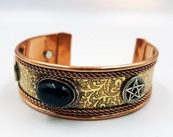 Copper Pentagram Bracelet (Magnetic)