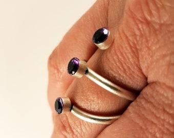 Amethyst Spiral Ring
