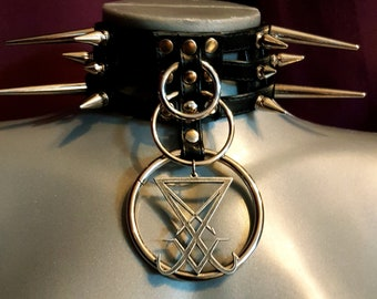 Sigil of Lucifer Spike Choker