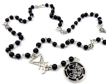 Sigil of Asmoday Medallion Rosary
