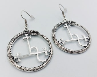 Sigil of Lilith Ouroboros Earrings (2 Styles)