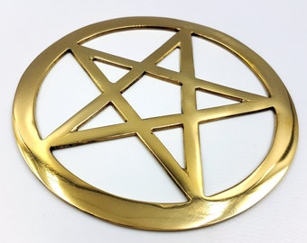 Pentagram Wall Ornament (Yellow Copper)