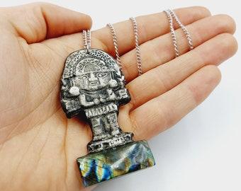 Tumi Necklace with Labradorite (Inca / Sican Inspired)