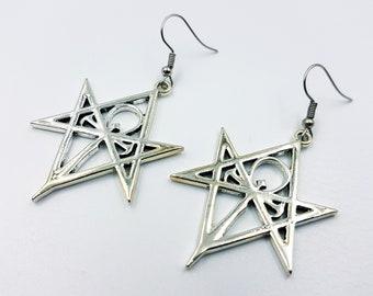 Vampire Ankh Hexagram Earrings (2 Styles)