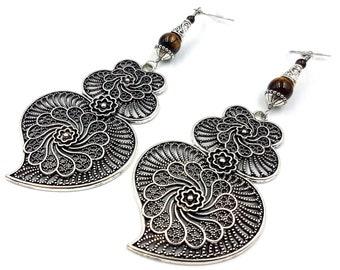 Boho Tigereye Earrings
