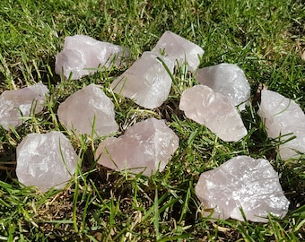 Chuncks of Rose Quartz Gemstone (9 pieces available)