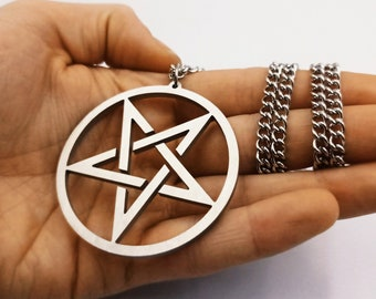 Inverted Pentagram Necklace (Full Stainless Steel)