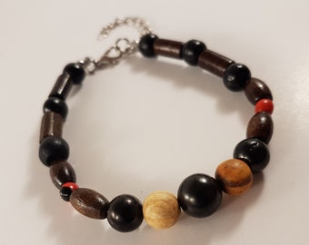 Shungite Stone | Palo Santo Wood | Huayruro Bracelet