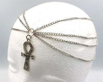 Egyptian Ankh Chain Tiara