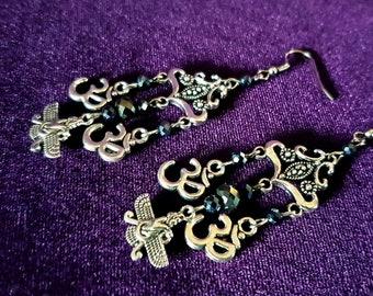Zoroastrian Ohm Earrings