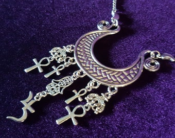 Sopor Aeternus Jusa Crescent Necklace