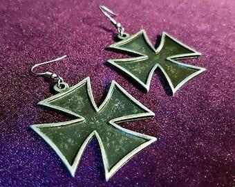 Iron Cross Earrings