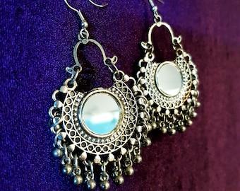 Mirror Boho Earrings (Vintage)