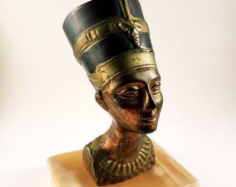 Nefertiti Copper Bust Statue