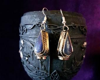 Vintage Lapis Lazuli / Coral Earrings.