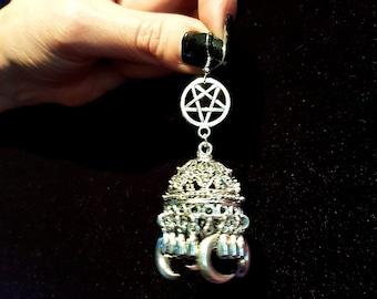 Occult Bohemian Moon Earrings