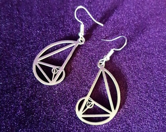 Stainless Steel Fibonacci Earrings (2 styles).