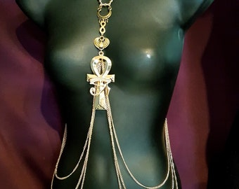 Egyptian Ankh Body Chain Harness