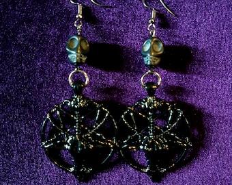 Black Sigil of Baphomet Earrings (2 Styles)