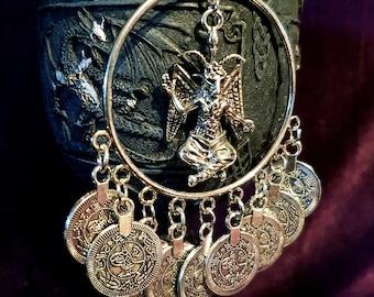 Baphomet Coin Earrings