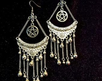 Pentacle Bell Earrings