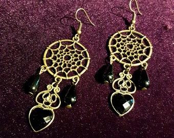 Gothic Web Earrings