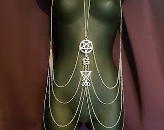 Luciferian Body Chain Harness