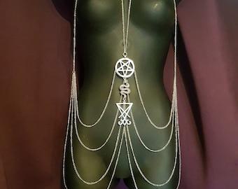 Luciferian Body Chain Harness